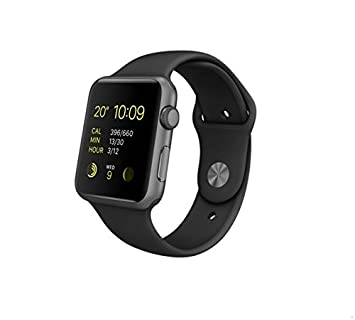 Apple Watch Sport - Smartwatch (42 mm, Bluetooth 4.0, Ion-X, WiFi), color negro, PRIMERA GENERACIÓN