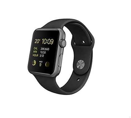 Apple Watch Sport - Smartwatch (42 mm, Bluetooth 4.0, Ion-X, WiFi), color negro, PRIMERA GENERACIÓN