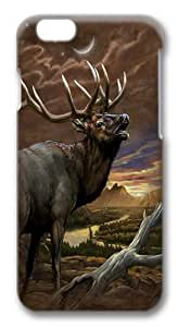Elk At Dust Custom iphone 6 plus 5.5 inch Case Cover Polycarbonate 3D