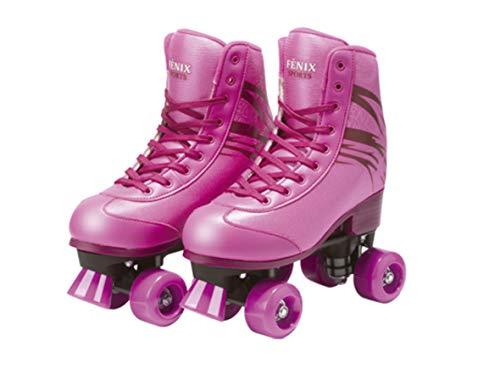 Patins Quatro Rodas Roller Skate Fenix Rosa