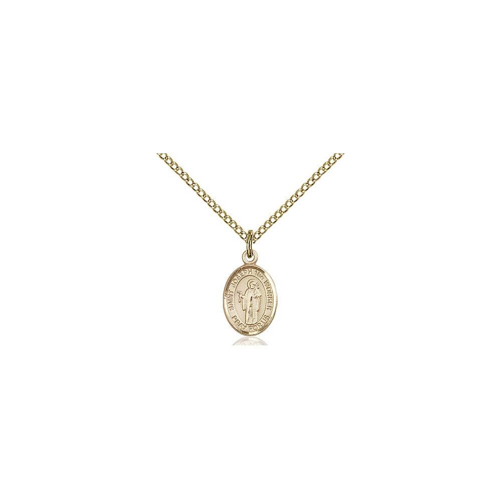 DiamondJewelryNY 14kt Gold Filled St Joseph The Worker Pendant
