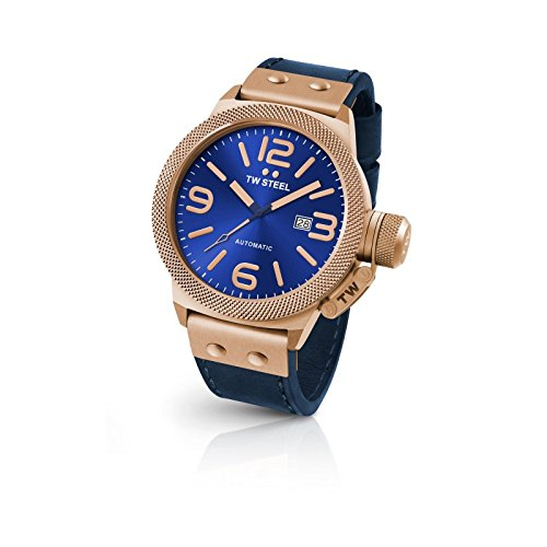 TW-Steel-CS65-Mens-Canteen-Leather-Blue-Dial-Blue-Strap-Automatic-Watch