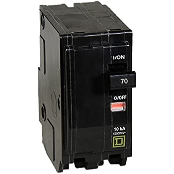 10 kA Interrupt 2 120//240 VAC Square D QO270 Miniature Circuit Breaker 70 A