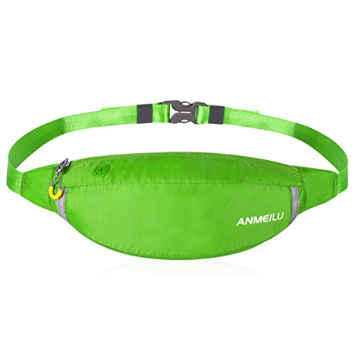Anmeilu Outdoor Running Pouch Belts Running Pockets for All Phone Models Water Resistant (Green) ()