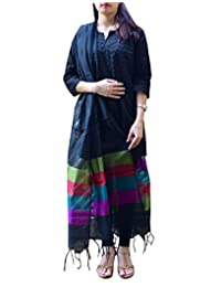 GiftPiper Cotton Silk Dupatta- Black