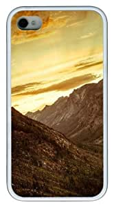 Canyon Sunset TPU White Case for iphone 4S/4