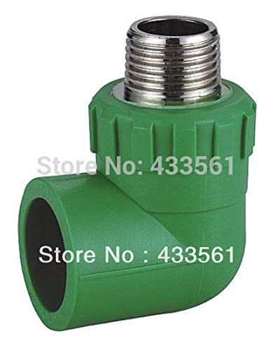 Maslin Quick Shipment Quality Color Green Enviroment Friendly PPR Male Thread 90deg DN20X1/2'' Fitting Connector for Water