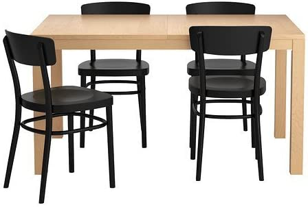 Ikea Extendable Dining Table With 4 Chairs 162020 1182 3438 Amazon Co Uk Kitchen Home