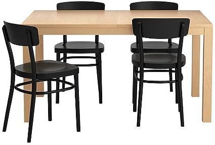 Ikea Tavolo Da Pranzo Allungabile Con 4 Sedie 162020 1182 3438 Amazon It Casa E Cucina