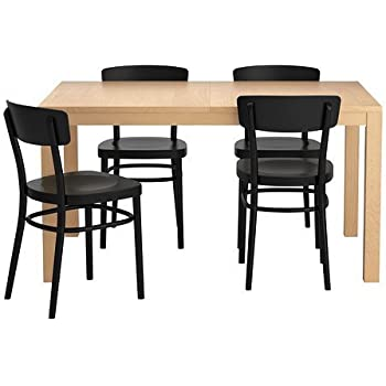 Amazon Com Ikea Extendable Dining Table With 4 Chairs