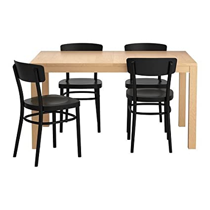 Amazon.com - IKEA Extendable Dining Table with 4 Chairs ...