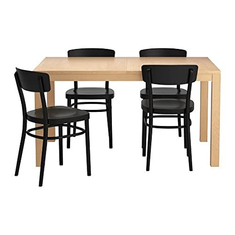 Amazoncom Ikea Extendable Dining Table With 4 Chairs 1620201182