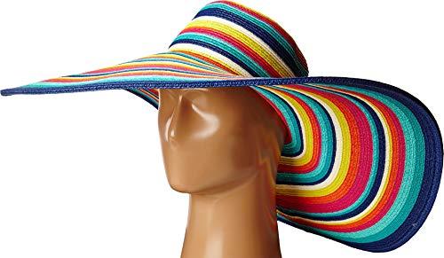 San Diego Hat Company Women's 8-inch Brim Floppy Stripe Sun