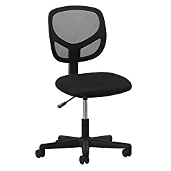 Essentials Swivel Armless Mid Back Mesh Task Chair - Ergonomic Computeroffice Chair (Ess-3000)