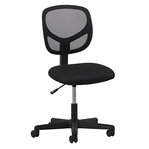 Essentials Swivel Armless Mid Back Mesh Task Chair – Ergonomic Computer Office Chair ESS-3000