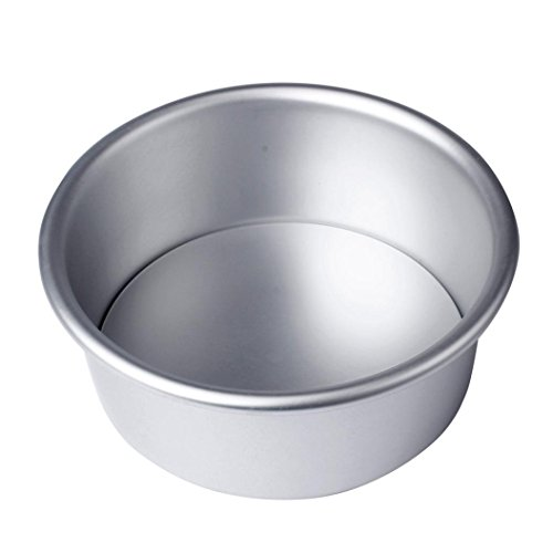 Vibola 4/6/8'' Mold Aluminium Alloy Non-stick Round Cake Baking Mould Cupcake Cake Cookie Mold DIY Wedding Baking Egg Tart Tools (6'') (8 Inch Heart Shaped Cookie Cutter)