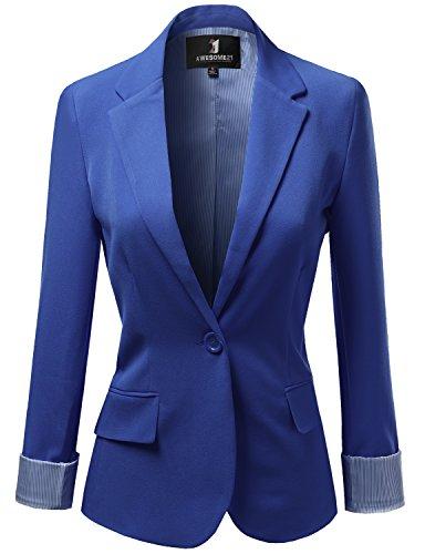 Women's Slim Business Blazer Blue - 8