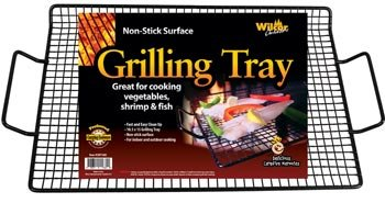 1 X Non-stick Grilling Tray (Great for Vegetables, Shrimp & Fish) - Bbq Rack