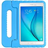 Case for Samsung galaxy Tab A 8.0inch 2019 T290 T295 hand-held Shock Proof EVA full body cover Handle stand case for kids -Blue