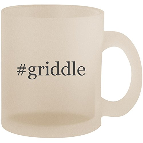 (#griddle - Hashtag Frosted 10oz Glass Coffee Cup Mug)