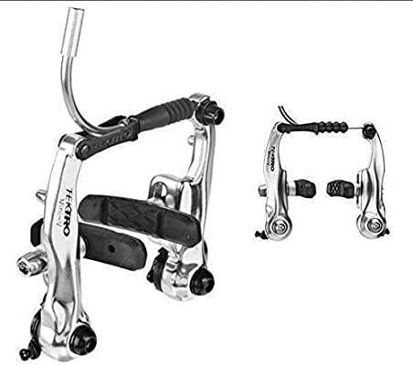 TEKTRO RX6 SILVER MINI V-BRAKE-LINEAR BRAKE-COMPATIBLE WITH STANDARD ROAD LEVERS