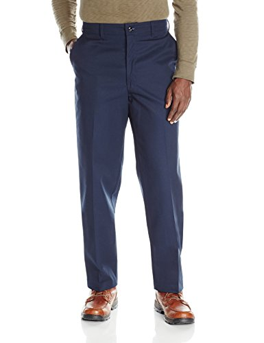 Red Kap Men's Stain Resistant, Flat Front Work Pants, Navy, 34W x 32L from Red Kap