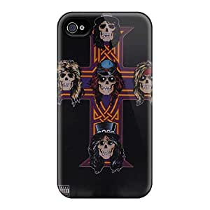 SherriFakhry Iphone 4/4s Perfect Hard Phone Case Allow Personal Design Trendy Guns N Roses Pattern [aCc13714lsvH]