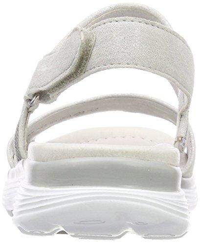 Gabor Rollingsoft, Sandali con Cinturino Alla Caviglia Donna Bianco (Ice/Altsilber)