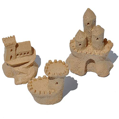 (Miniature Fairy Garden Sandcastle Sculptures, Set of 3)