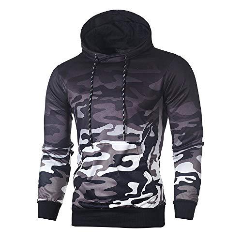 Camouflage Hoodie Duseedik Men's Long Sleeve Hooded Sweatshirt Top Tee Outwear Blouse