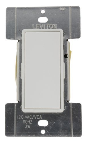 Leviton MSE0R-10W Mural Digital Rocker Remote Dimmer for Electronic LV, 3-Way and 4-Way, White ()