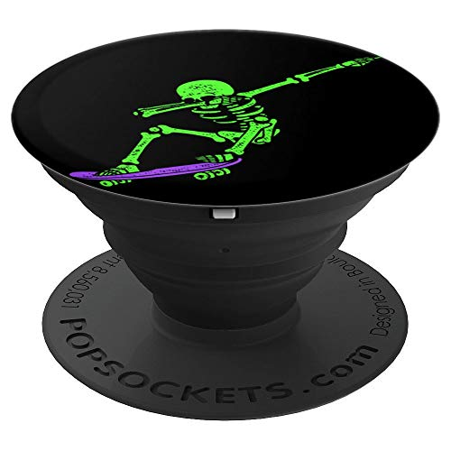(Halloween Dabbing Skeleton Dab Skate Glow - PopSockets Grip and Stand for Phones and Tablets )
