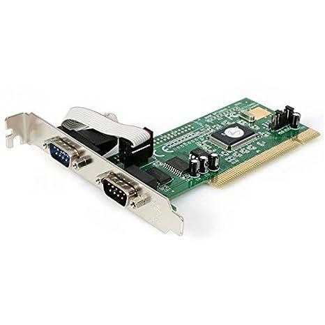 Amazon.com: startech.com 2 Puerto tarjeta PCI Serial RS232 ...