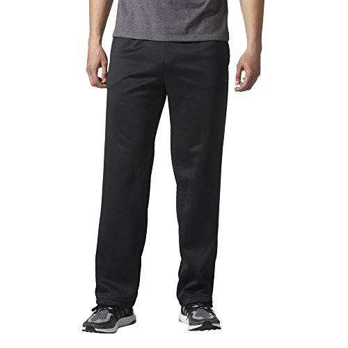 adidas Men's Team Issue Fleece Open Hem Pants, Black Melange, Medium