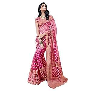 Shilp-Kala Brasso Border Worked Pink Colored Saree SKVSPEY4555