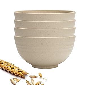 Canruover Unzerbrechliche Müslischalen, 680 ml, leicht, 4 Stück, umweltfreundlich, für Suppen, Reis, Müsli, Nudeln…