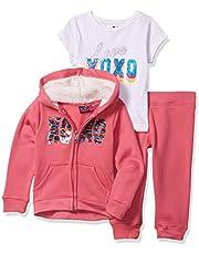 XOXO Girls' Toddler Hoodie, Tee & Joggger Set