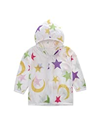 Vincent&July Boys Girls Summer Sunscreen Sun Protection Stars Hooded Tops