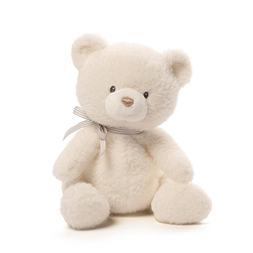Cuddly Pink Teddy Bear - Baby GUND Oh So Soft Teddy Bear Stuffed Animal Plush, Cream, 12