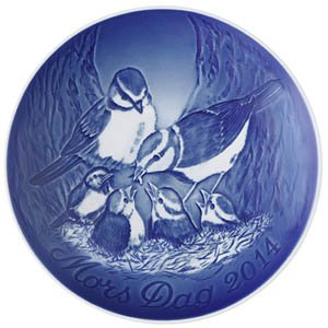 Bing & Grondahl 1902714 Mother's Day Plate 2014, Blue Tits with ()