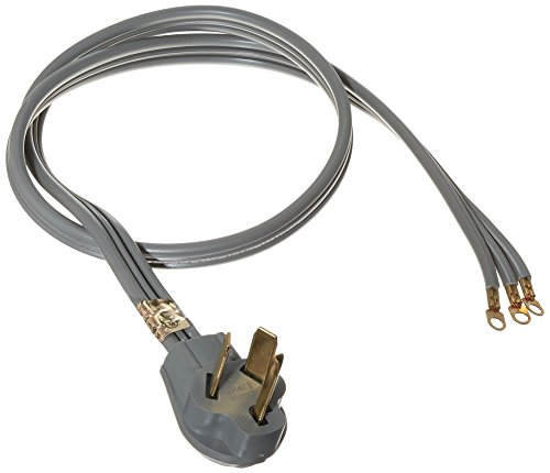 Certified Appliance Accessories 3-Wire Closed-Eyelet 30-Amp Dryer Cord, 4ft by Certified Appliance Accessories