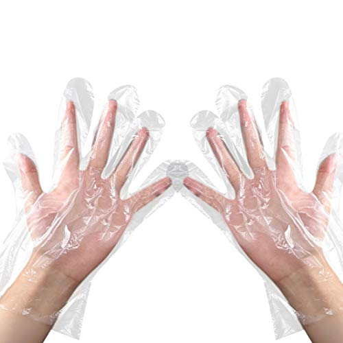 Disposable Clear Plastic Gloves 500 Pieces Plastic Disposable Food Prep Gloves for Cooking Cleaning,Food Handling,Powder…