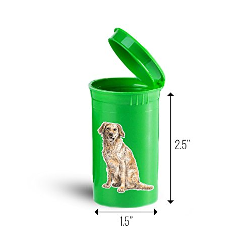 Labrador Retriever Dog Animal Pill, Drug and Vitamin Container ID 3473G (Best Vitamins For Labradors)