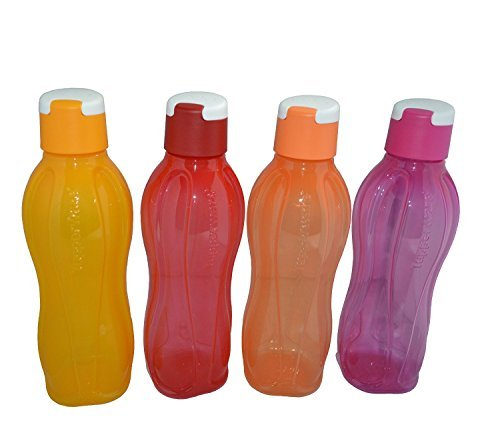 tp-760-t750-tupperware-aquasafe-sports-water-bottle-flip-top-750ml-4-pcs