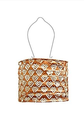Allsop Home and Garden Soji Stella Drum LED Outdoor Solar Lantern, Handmade with Weather-Resistant fabric for Patio or Garden, Color - Allsop Led Solar Lantern