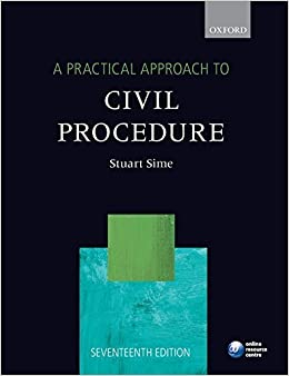 A Practical Approach to Civil Procedure (Practical Approach To... (Oxford)) by Stuart Sime (2014-10-14)