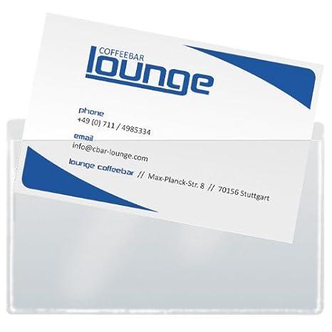 Sigel Vz115 Visitenkarten Taschen 100 Stück Selbstklebend Max 90x55 Mm