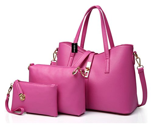 Moda Mujeres Tote De Set Function Crossbody Mutil Bandolera Rosa Pu Bag Mano Bolsos Alidear Bolsas 3 Carteras 4wxHd5CqC