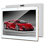 "10.1"" Inch Android 7.0 Tablet PC, 2GB RAM 32GB Storage Phablet Tablet Octa Core Unlocked 3G Cell Phone Tablets, Dual Sim Card Slots, WiFi, GPS, Bluetooth 4.0,1920x1080 HD IPS Screen Display, (White)"
