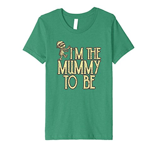 Kids Premium I'm The Mummy To Be Funny Halloween T-Shirt 4 Kelly (Characters To Be For Halloween)